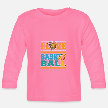 Sports Jeg elsker Basketball Sports Player - Langarmet baby T-skjorte
