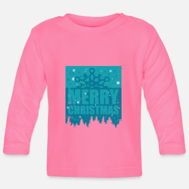 Conifer Merry Christmas snowflake snow conifer - Baby Longsleeve Shirt