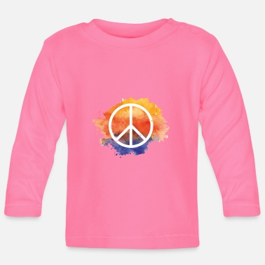 Symbol Symbol peace gift world peace hippie - Baby Longsleeve Shirt