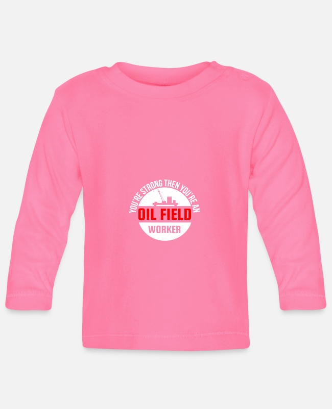 Occupation Baby Long-Sleeved Shirts - Petroleum gasoline diesel fuel promotion work - Baby Longsleeve Shirt azalea