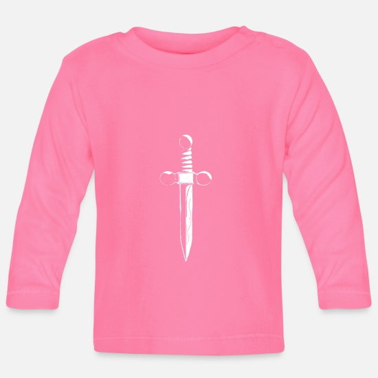 Sword Baby Clothes - sword - Baby Longsleeve Shirt azalea