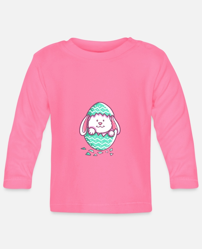 Easter Baby Long-Sleeved Shirts - Easter - Happy Easter - Easter Bunny - Easter egg - Baby Longsleeve Shirt azalea