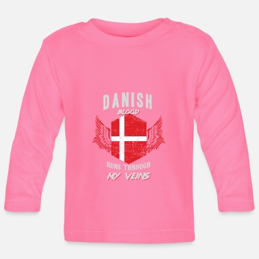 Text danish blood runs through my veins - Baby Longsleeve Shirt