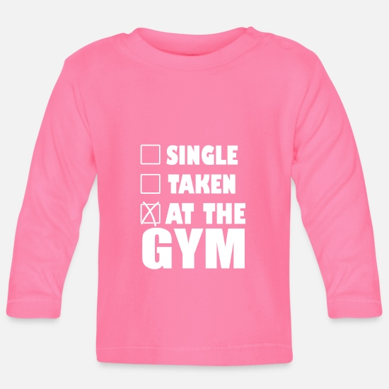 Weightlifting Baby Clothes - At The Gym - Baby Longsleeve Shirt azalea