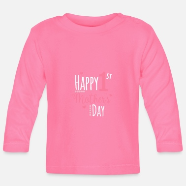 Day Happy First Mother's Day Ik moeder moeder cadeau - Baby longsleeve