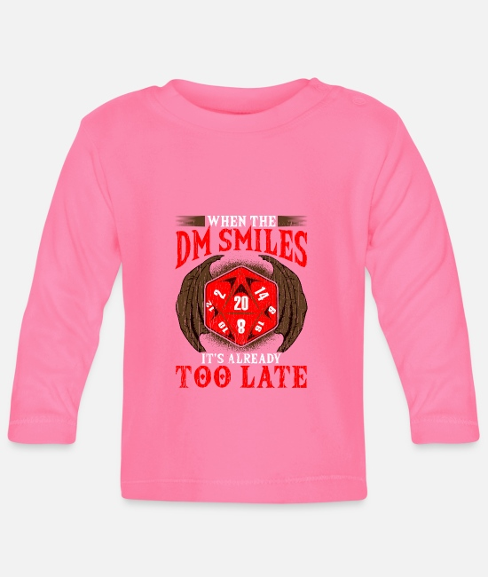 Christmas Baby Long-Sleeved Shirts - Funny When the DM Smiles, It's Already Too Late - Baby Longsleeve Shirt azalea
