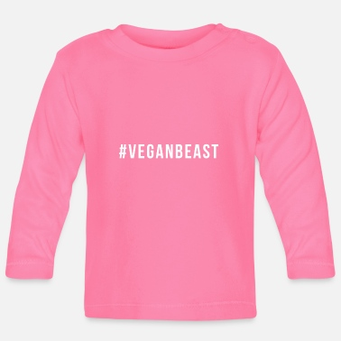Vegan Sports Wear Vegan Beast graphic Funny Workout print For Vegans - Baby Longsleeve Shirt