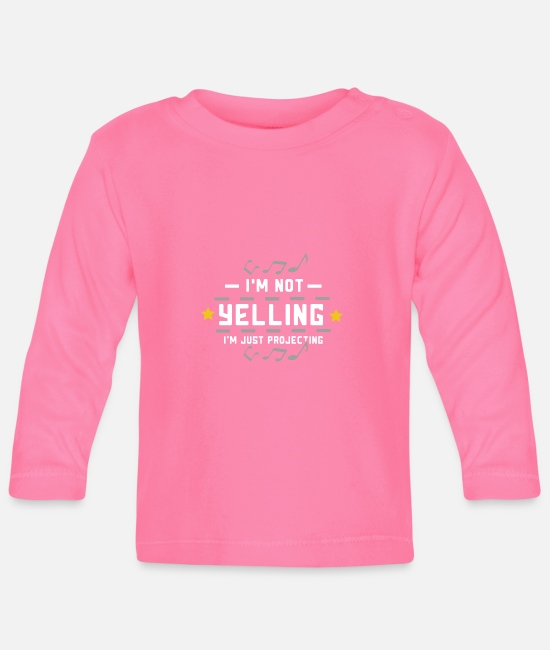 Movie Baby Long-Sleeved Shirts - Theater I'm Not Yelling Funny Gift - Baby Longsleeve Shirt azalea