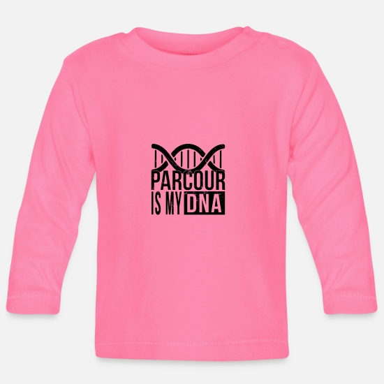 Race Baby Clothes - Parcour is in my DNA - Baby Longsleeve Shirt azalea