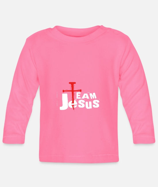 Faithful Baby Long-Sleeved Shirts - Team Jesus preacher or Evangelist Gift - Baby Longsleeve Shirt azalea