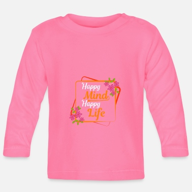 Ghost Happy Mind Happy Person Life Motivated Happy - Baby Longsleeve Shirt