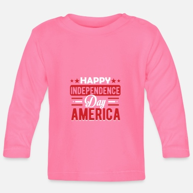 Étatsunis Happy independence day America - T-shirt manches longues Bébé