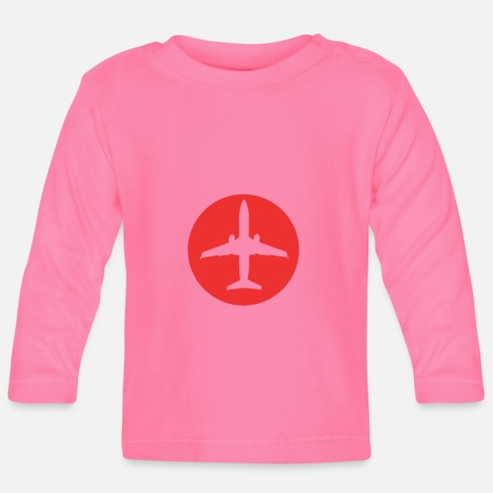 Gift Idea Baby Clothes - Pilot Airplane Airplane Gift - Baby Longsleeve Shirt azalea