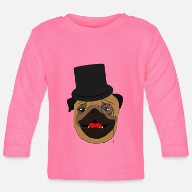Wealthy The wealthy Pug - gift idea, monocle - Baby Longsleeve Shirt