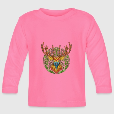 Deer Head Deer deer nature deer head - Baby Long Sleeve T-Shirt