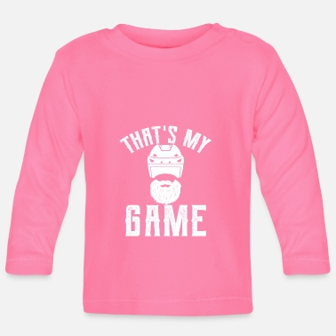 Eisen That's my game - Eishockey, Ice, Schläger, Puck - Baby Langarmshirt
