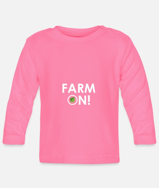 Eco Baby Clothes - Farm on - Baby Longsleeve Shirt azalea
