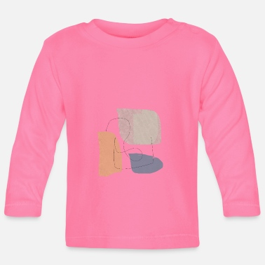 Form Underwear Minimalistic abstract background N3 - Baby Longsleeve Shirt