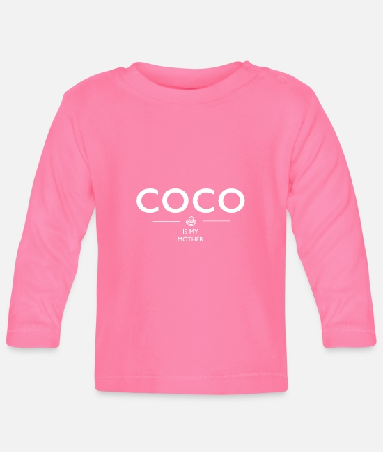 Live Simply Baby Long-Sleeved Shirts - coco is my mother - Baby Longsleeve Shirt azalea