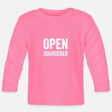 Open Sourcerer Funny programmer developer code humor quote - Baby Longsleeve Shirt