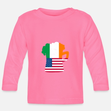Irish Beer Irish Irish St Patricks Day Shirt Irish Beer - Maglietta maniche lunghe neonato