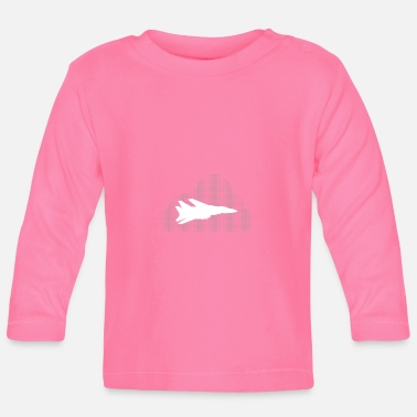Jet Jet jet with cloud - Baby Long Sleeve T-Shirt