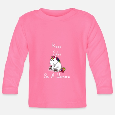 Officialbrands Keep calm be unicorn thick rainbow horse unicorn - Baby Longsleeve Shirt