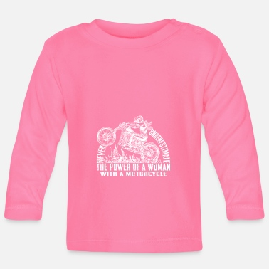Motorcycle Club Never Underestimate The Power Of A Woman With A - Camiseta de manga larga bebé
