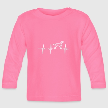 My heart beats for dogs! - Baby Long Sleeve T-Shirt