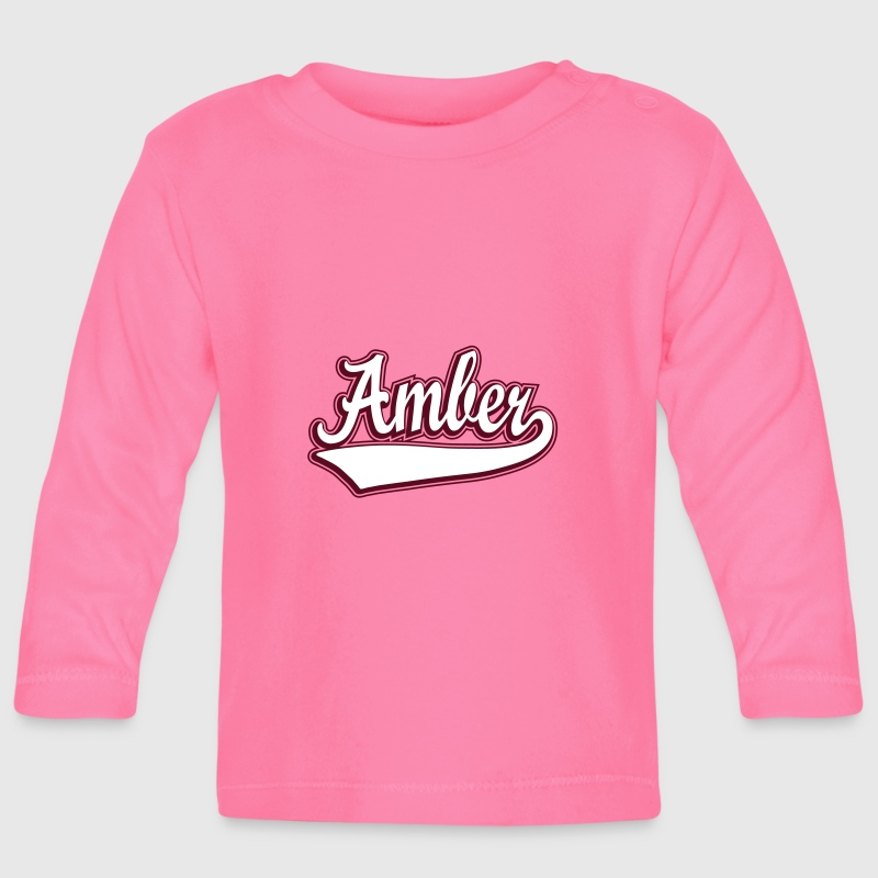 Amber - Name as a sport swash - Baby Long Sleeve T-Shirt