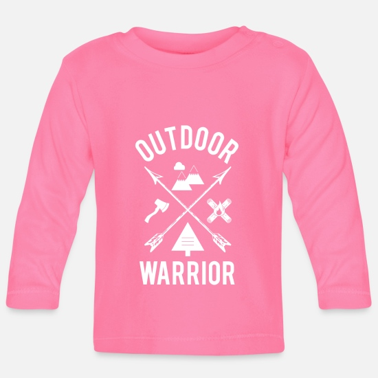 Outdoor Bebiskläder - Outdoor Warrior - Långärmad baby T-shirt azalea