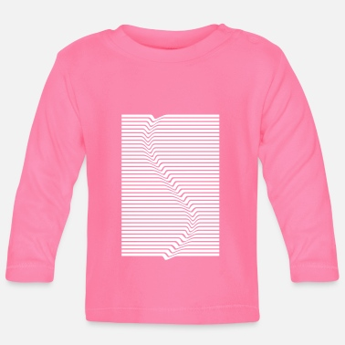 Abstract Abstract lines art surfing in the water - Baby Longsleeve Shirt