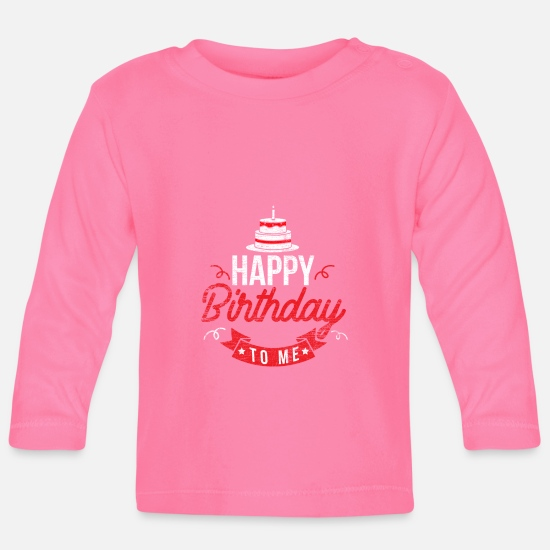 Birthday Greeting Baby Clothes - birthday - Baby Longsleeve Shirt azalea