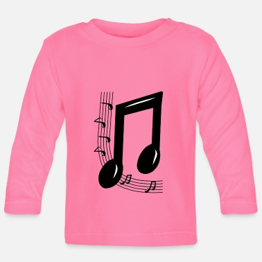Note Clue Musical note - Baby Longsleeve Shirt