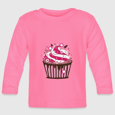 A cupcake with frosting - Baby Long Sleeve T-Shirt