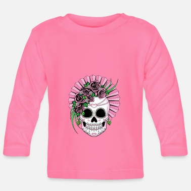 Skull Lady Sugar Skull - Baby Long Sleeve T-Shirt