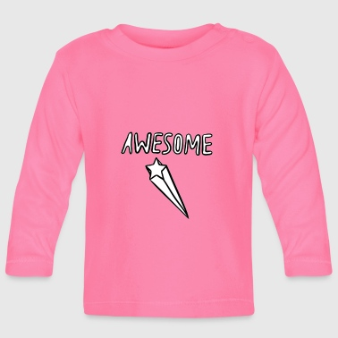 Awesome Awesome - Langarmet baby-T-skjorte