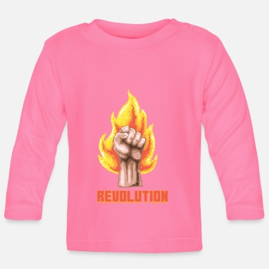 Demo Revolution fist resistance demo - Baby Long Sleeve T-Shirt