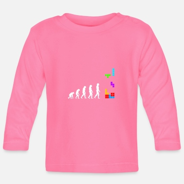 Chance Evolution blocks color - Retro Gaming Pixel - T-shirt manches longues Bébé