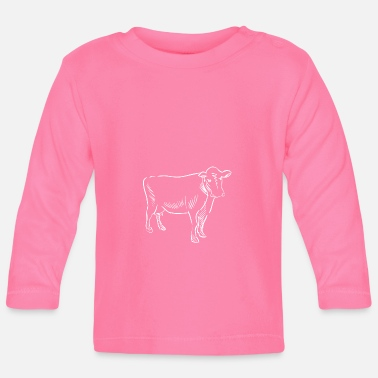 Hand Drawn Cow hand drawn - Baby Longsleeve Shirt