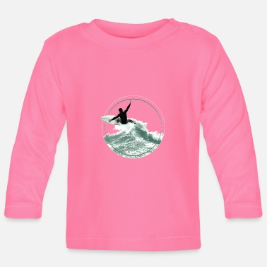 Surfer's delight Adrenalin Welle Spannung Surfing - Baby Langarmshirt