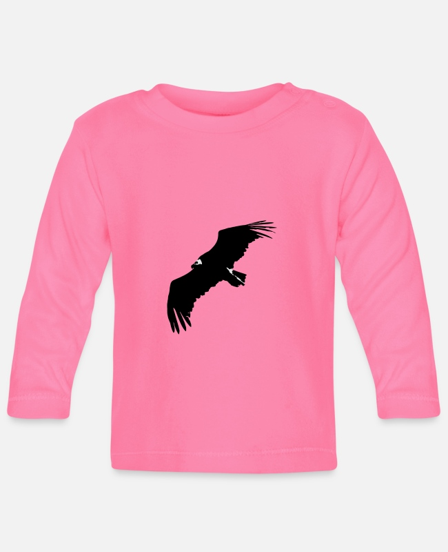Epidemic Baby Long-Sleeved Shirts - VULTURE IN FLIGHT - Baby Longsleeve Shirt azalea