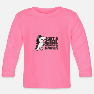 Föl Riding Girl Loves Horse Horse Rider Gift - Långärmad T-shirt baby