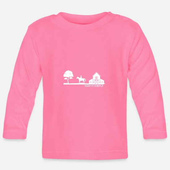 Horse Baby Clothes - Horse Riding Equestrian Gift · Simple - Baby Longsleeve Shirt azalea