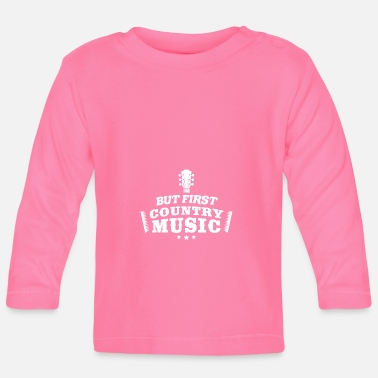 Piano Meme Music Design Citat Men First Country Music - Långärmad baby T-shirt
