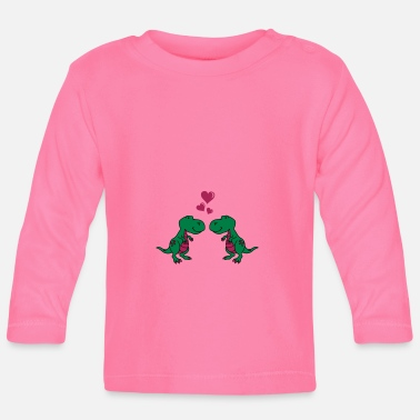 Comic dinosaurier in love 02 - Baby Langarmshirt