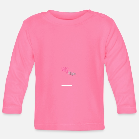 Big Sis Baby Clothes - Big sister - Baby Longsleeve Shirt azalea