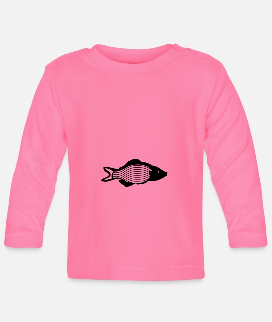 Fishing Rod Baby Clothes - fish - Baby Longsleeve Shirt azalea