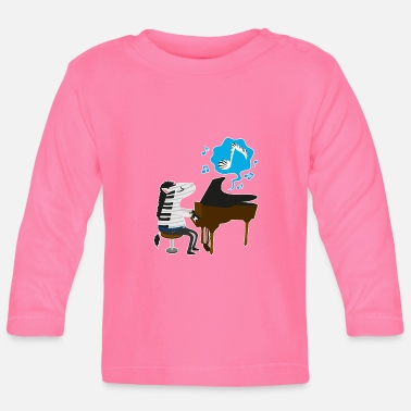 A zebra playing the piano - Baby Long Sleeve T-Shirt