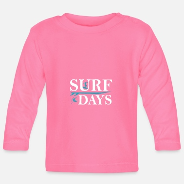 Surf days Summer Beach Surfer Boy Gift T-Shirt - Baby Longsleeve Shirt